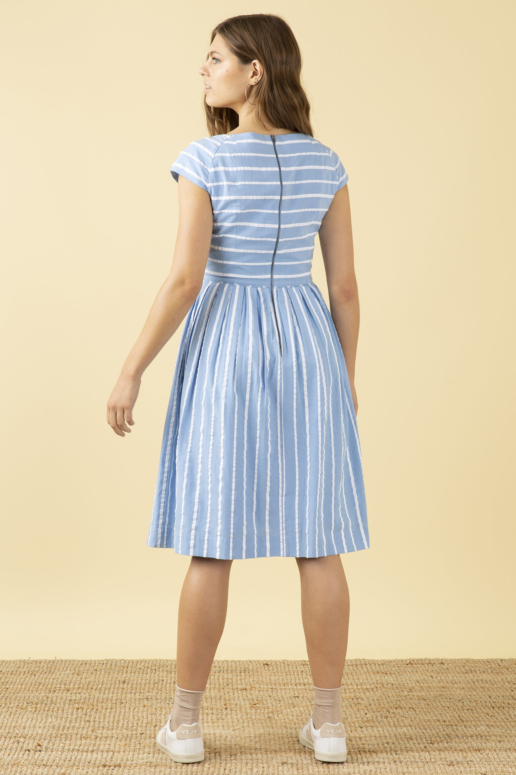 Emily & Fin Claudia Seaspray Stripe Dress - BouChic