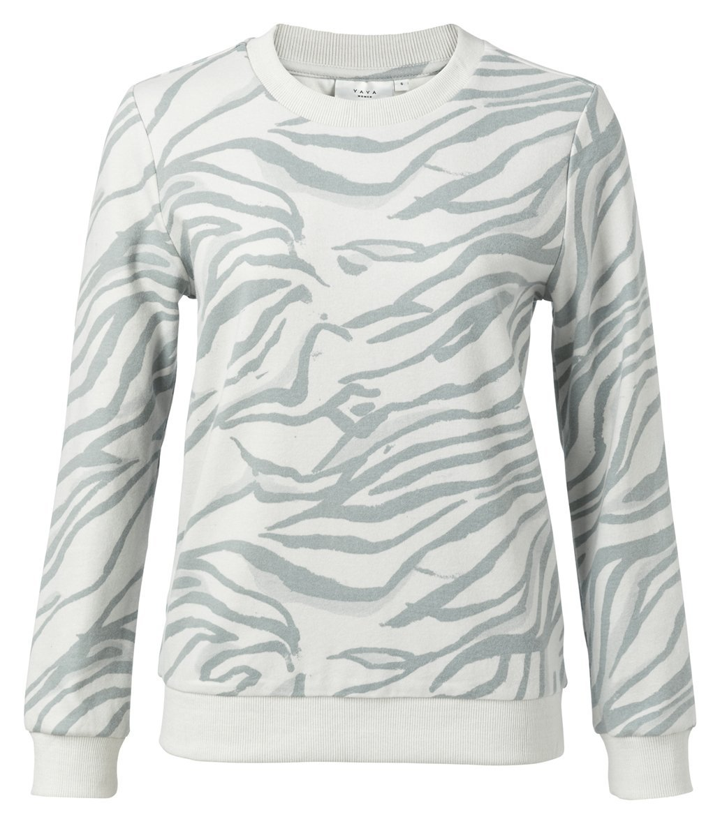 Cotton Blend Sweatshirt With Animal Print Seagull Grey Dessin - BouChic