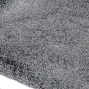 Dark Grey Fur Throw - BouChic