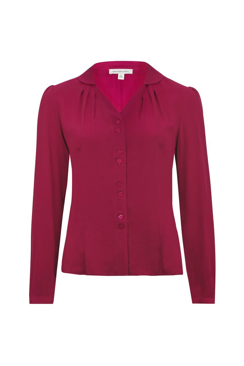 Elspeth Emily & Fin Raspberry Blouse Top BouChic | Homeware, Fashion, Gifts, Accessories