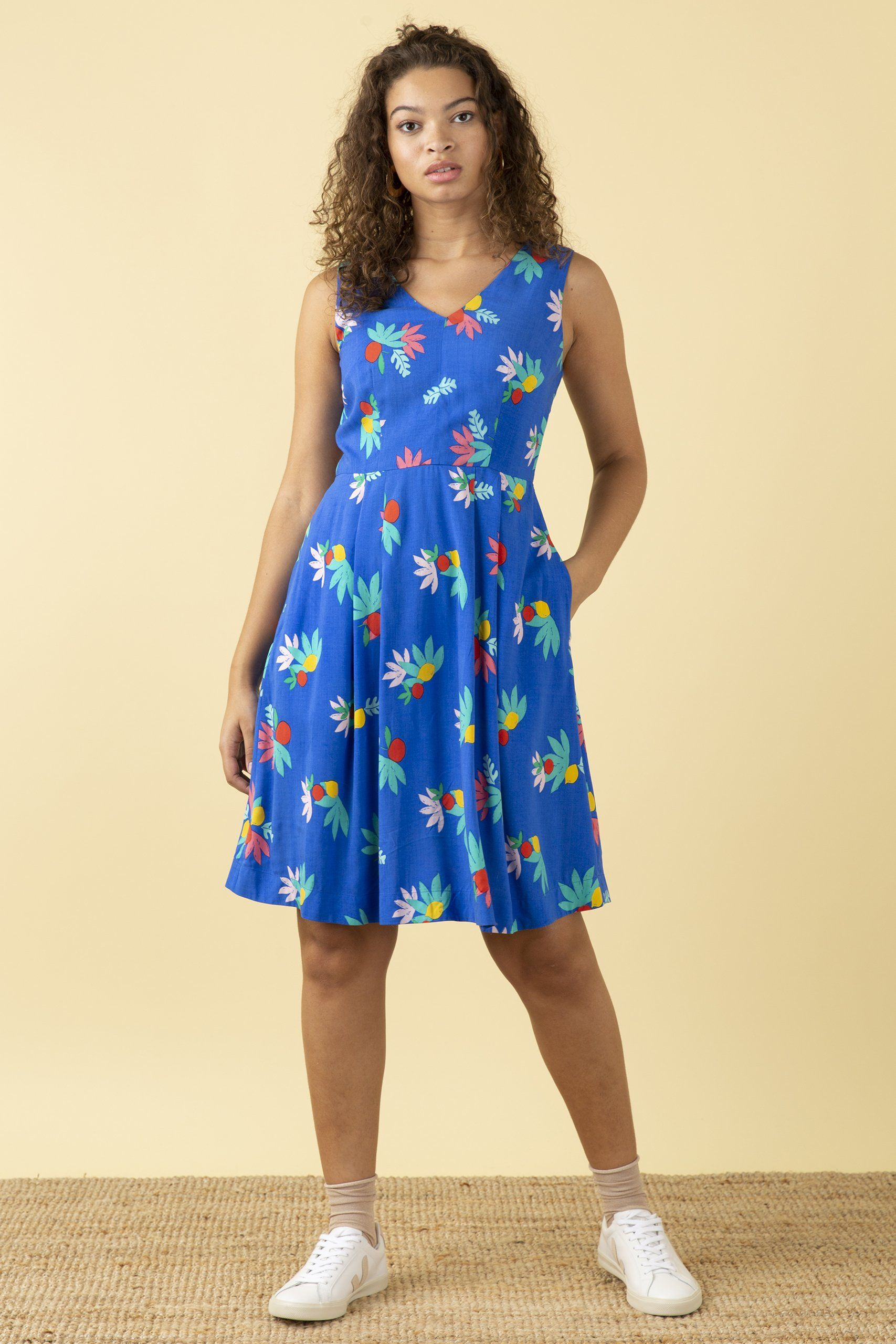 Emily & Fin Amelie Dress Blue Arenes Summer Fruit - BouChic