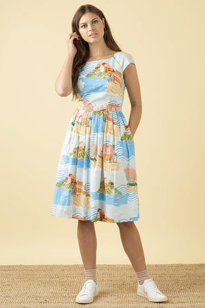 Emily & Fin Claudia Dress Sorrento Summer - BouChic