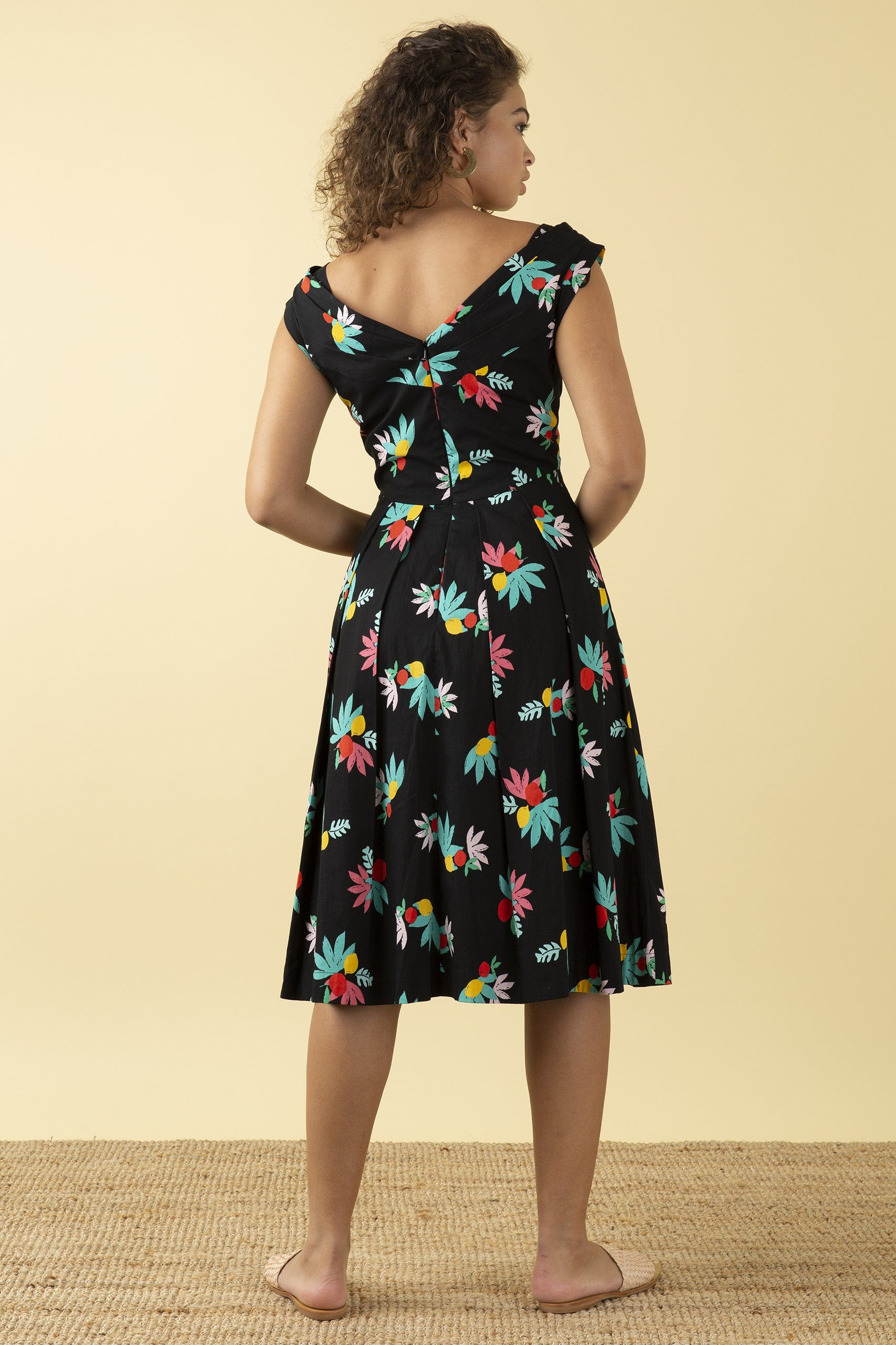 Emily & Fin Florence Dress Black Arenes Summer Fruit - BouChic