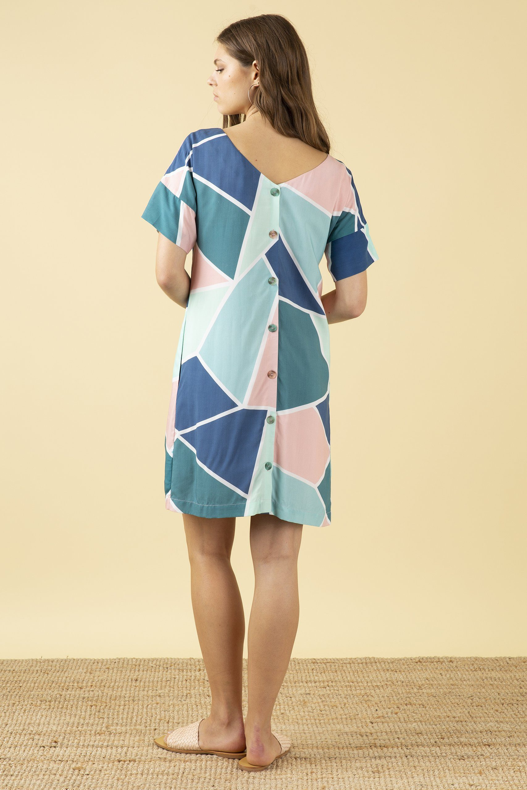 Emily & Fin Gigi Dress Mosaic Tile - BouChic