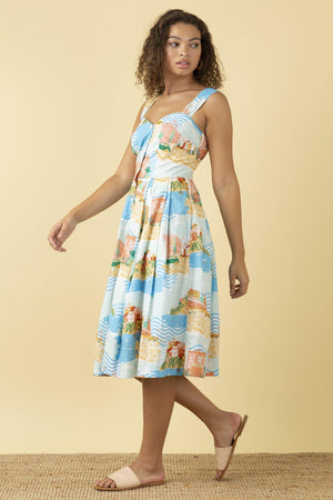 Emily & Fin Jenny Dress Sorrento Summer - BouChic