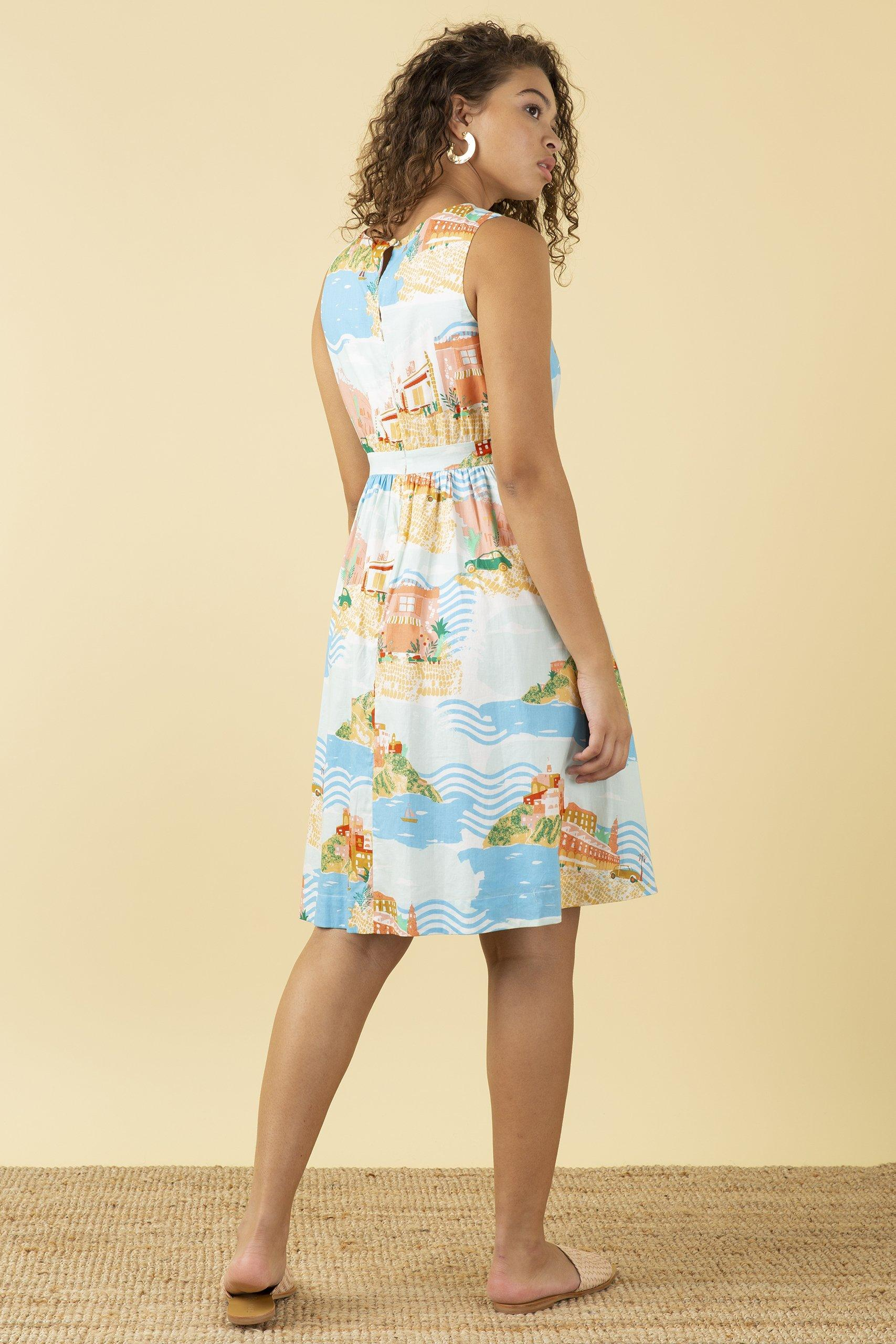 Emily & Fin New Lucy Dress Sorrento Summer - BouChic