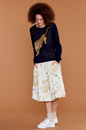 Emily & Fin Tiger Navy Long Sleeve Jumper - BouChic