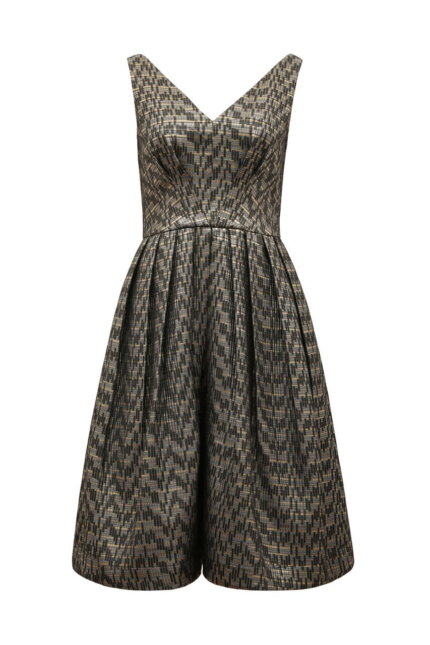 Emma Emily & Fin Gold Skyline Jacquard Dress Dress Bouchic