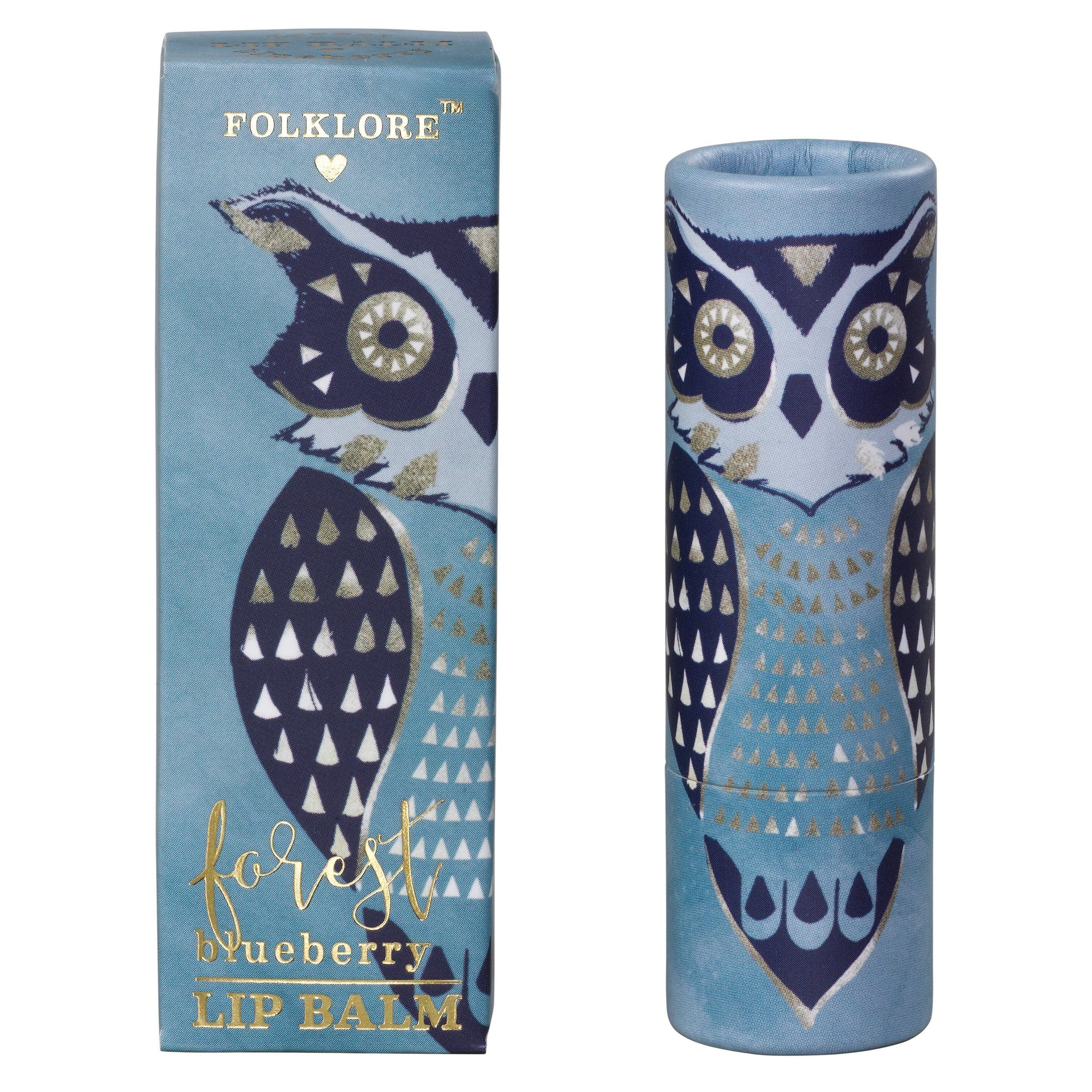Folklore Forest Owl Blueberry Lip Balm - BouChic