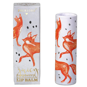 Folklore Fox Raspberry Lip Balm - BouChic