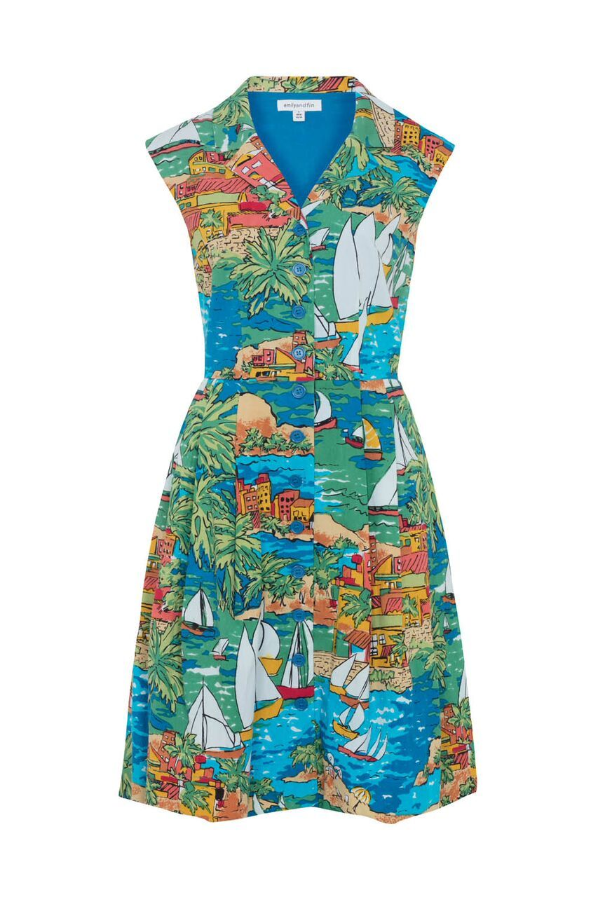Frankie Emily & Fin San Jose Bay Print Shirt Dress - BouChic