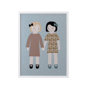 'Friendship' Picture of Two Little Girls - BouChic
