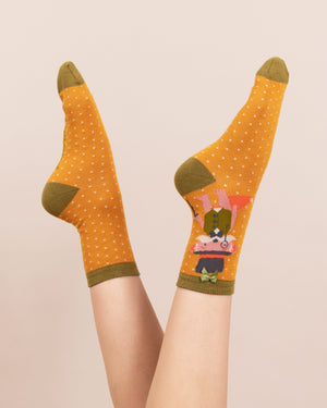 Gentleman Fox Ankle Socks - BouChic