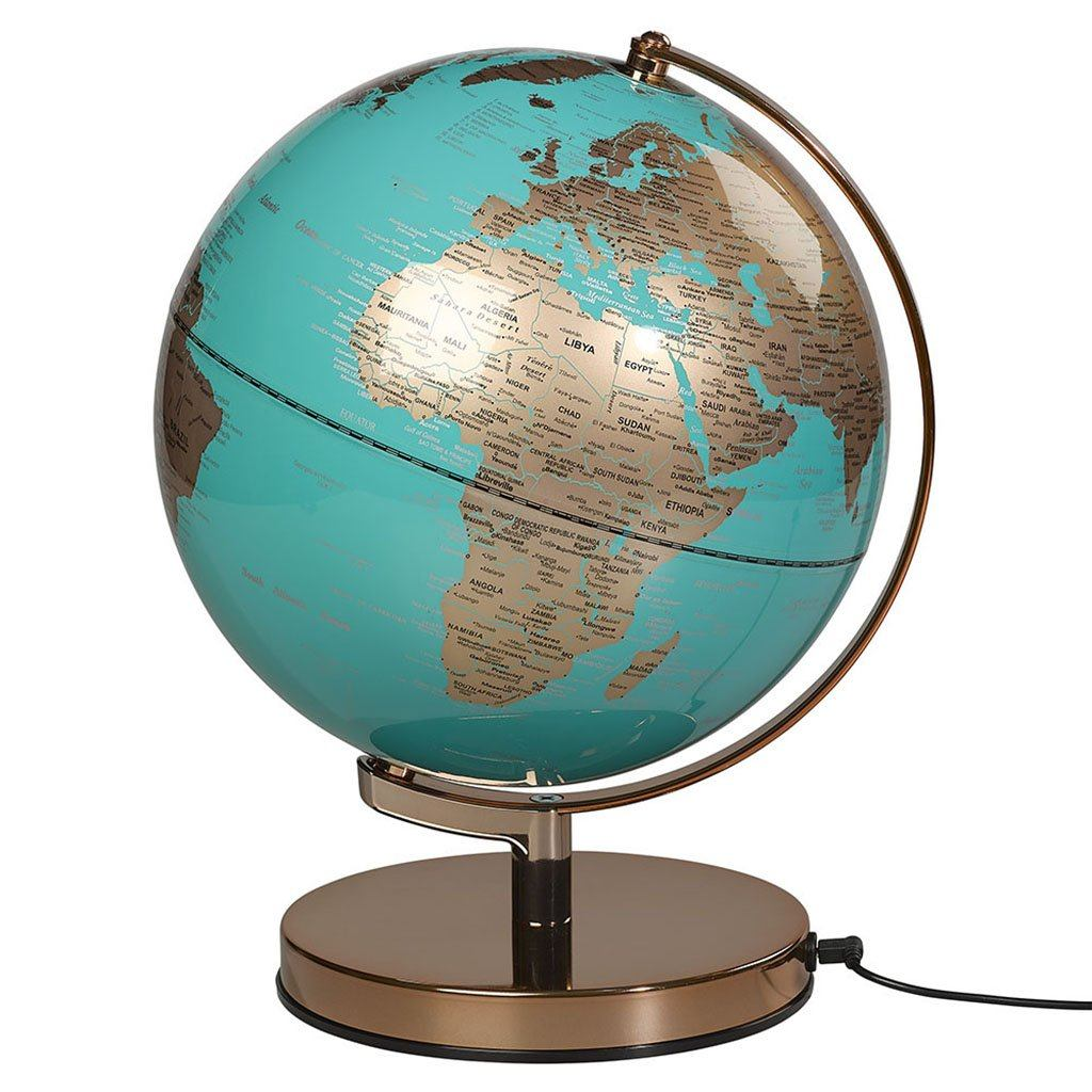 "Globe Light 10"" Metallic Copper/ Azure Blue - BouChic"