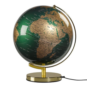 "Globe Light 12"" Fir Green & Brass - BouChic"