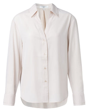 Jacquard Shirt With Double Cuffs Pale Pink - BouChic