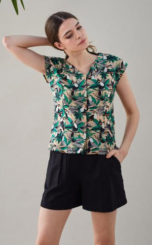 Jodie Tropical Toucan Top Emily & Fin - BouChic
