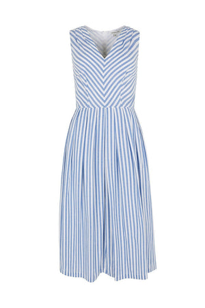 Josie Sunlounger Stripe Midi Dress - BouChic
