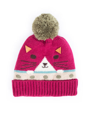 Ladies Cosy Cat Hat Berry - BouChic