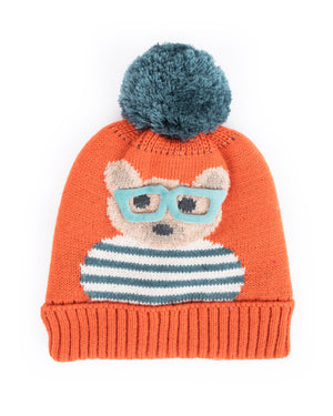 Ladies Cosy Teddy Hat Tangerine - BouChic