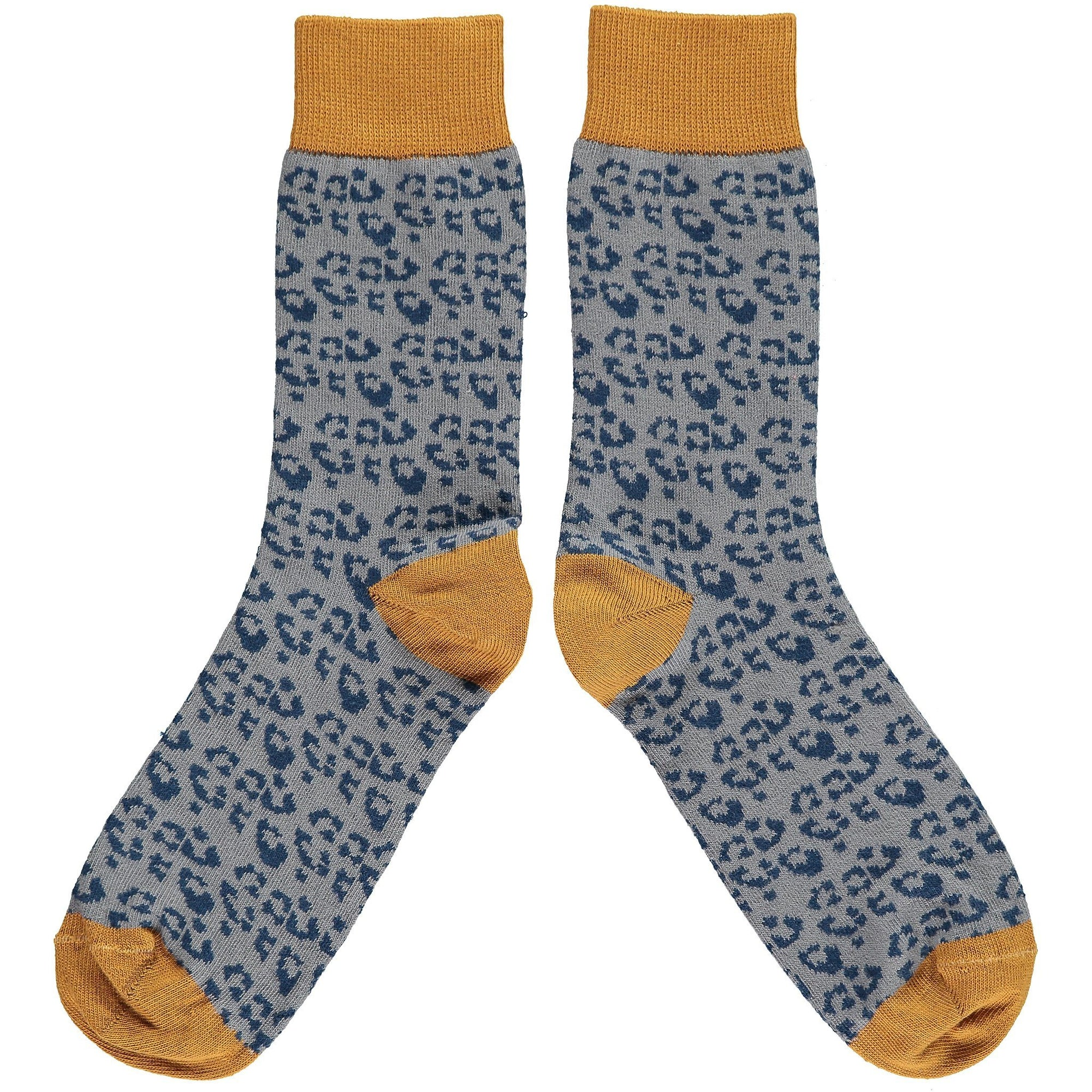 Ladies Leopard Print Cotton Ankle Socks - BouChic