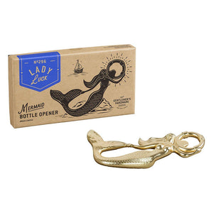 'Lady Luck' Mermaid Bottle Opener Brass Coated - BouChic