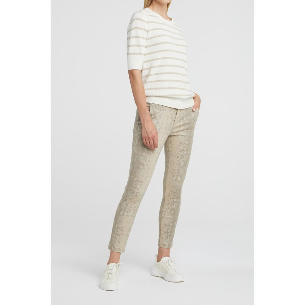 Lurex Sweater With Stripe Print - BouChic