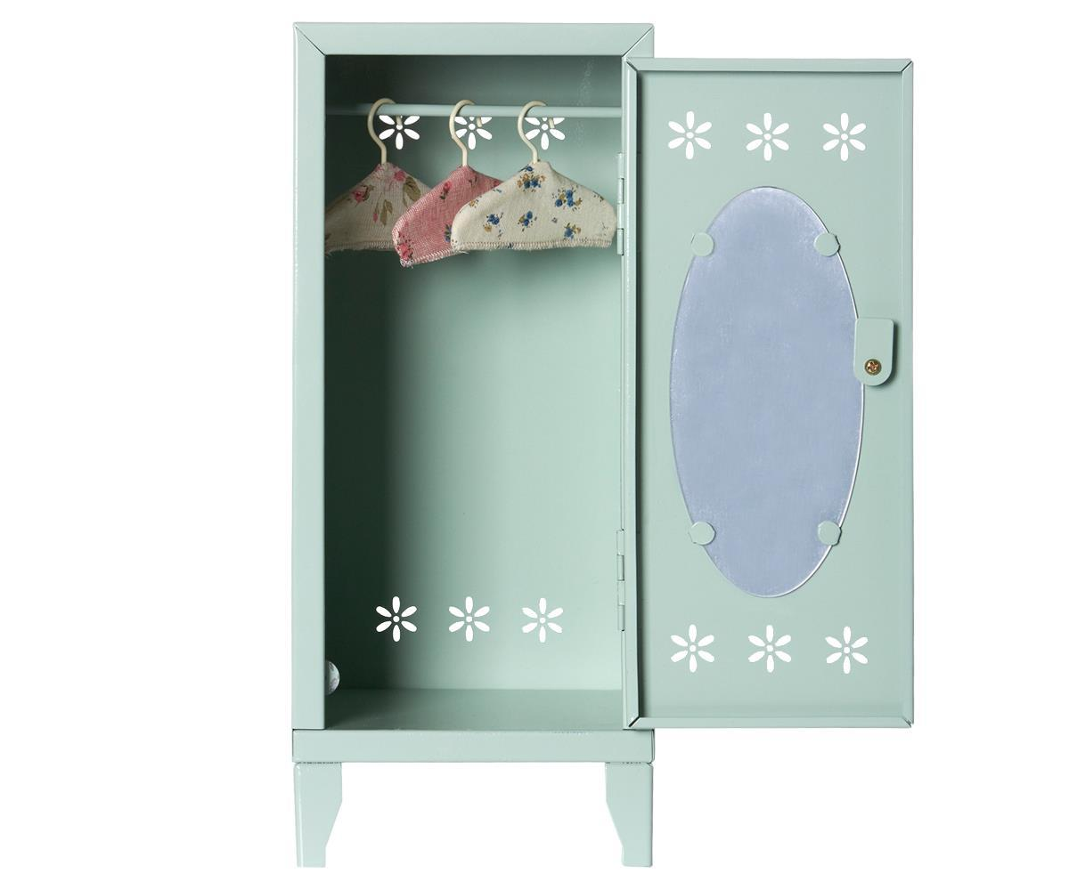 Maileg Medium Locker with 3 Hangers Green - BouChic
