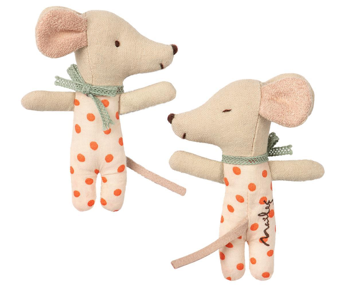 Maileg Sleepy Wakey Baby Girl Mouse in Match Box - BouChic
