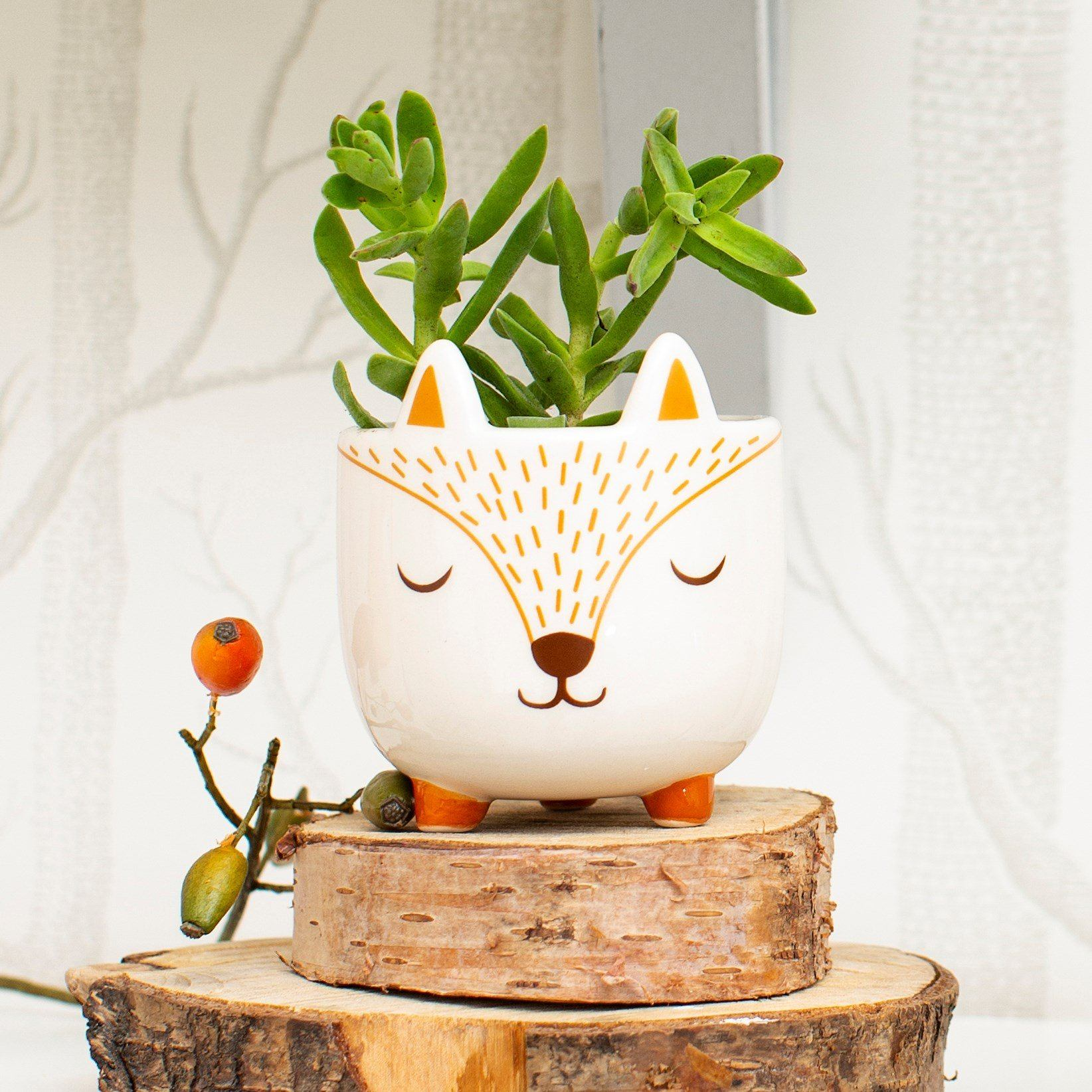 Mini Woodland Fox Planter - BouChic