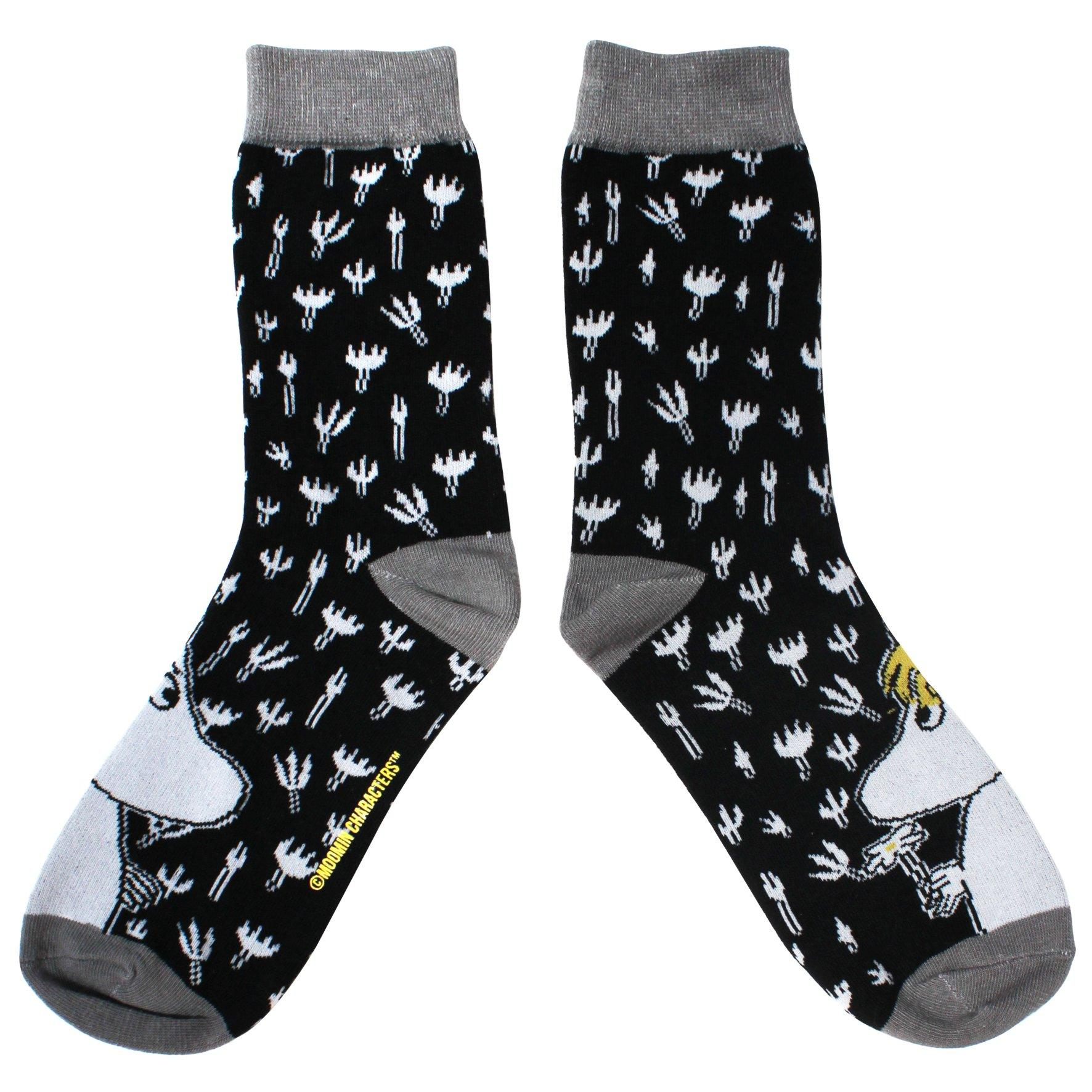 Moomin Black Printed Socks - BouChic