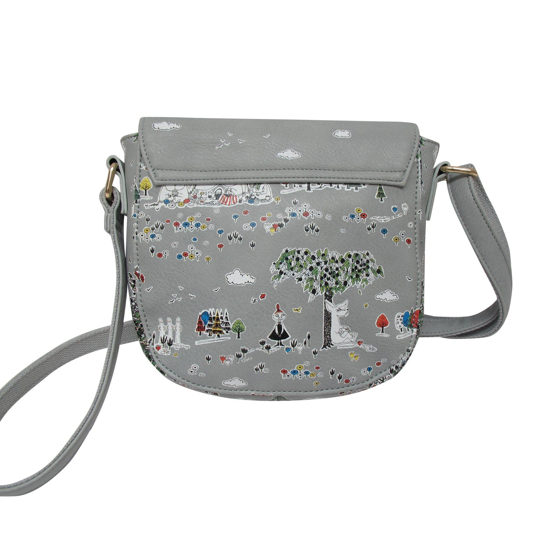 Moomin Grey Cross Body Saddle Bag - BouChic