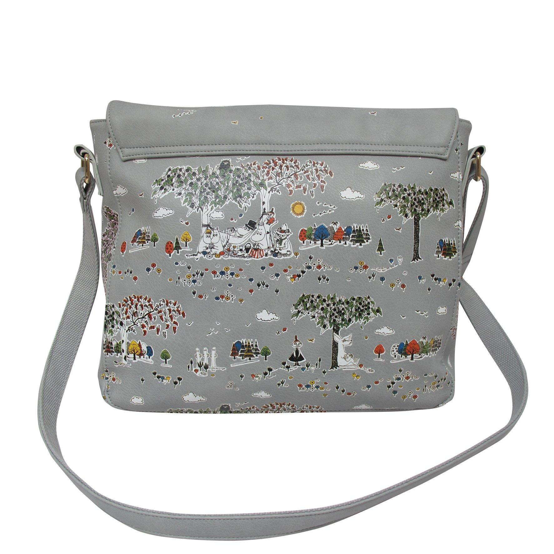 Moomin Grey Meadow Satchel Cross Body Bag - BouChic
