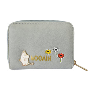 Moomin Meadow Print Grey Purse - BouChic
