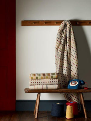 Multi Spot Lambswool Throw - BouChic