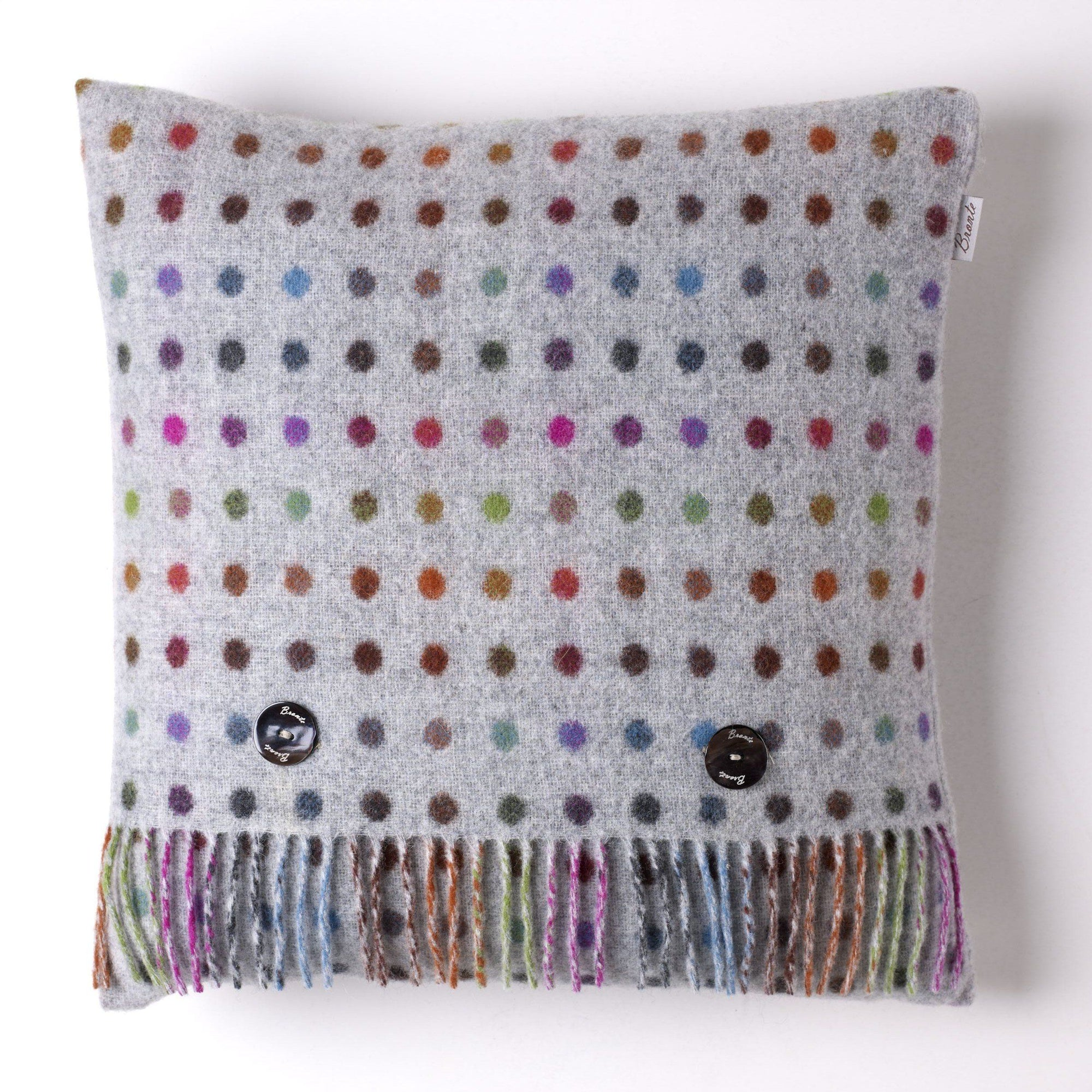 Multi Spot Merino Lambswool Cushion - BouChic