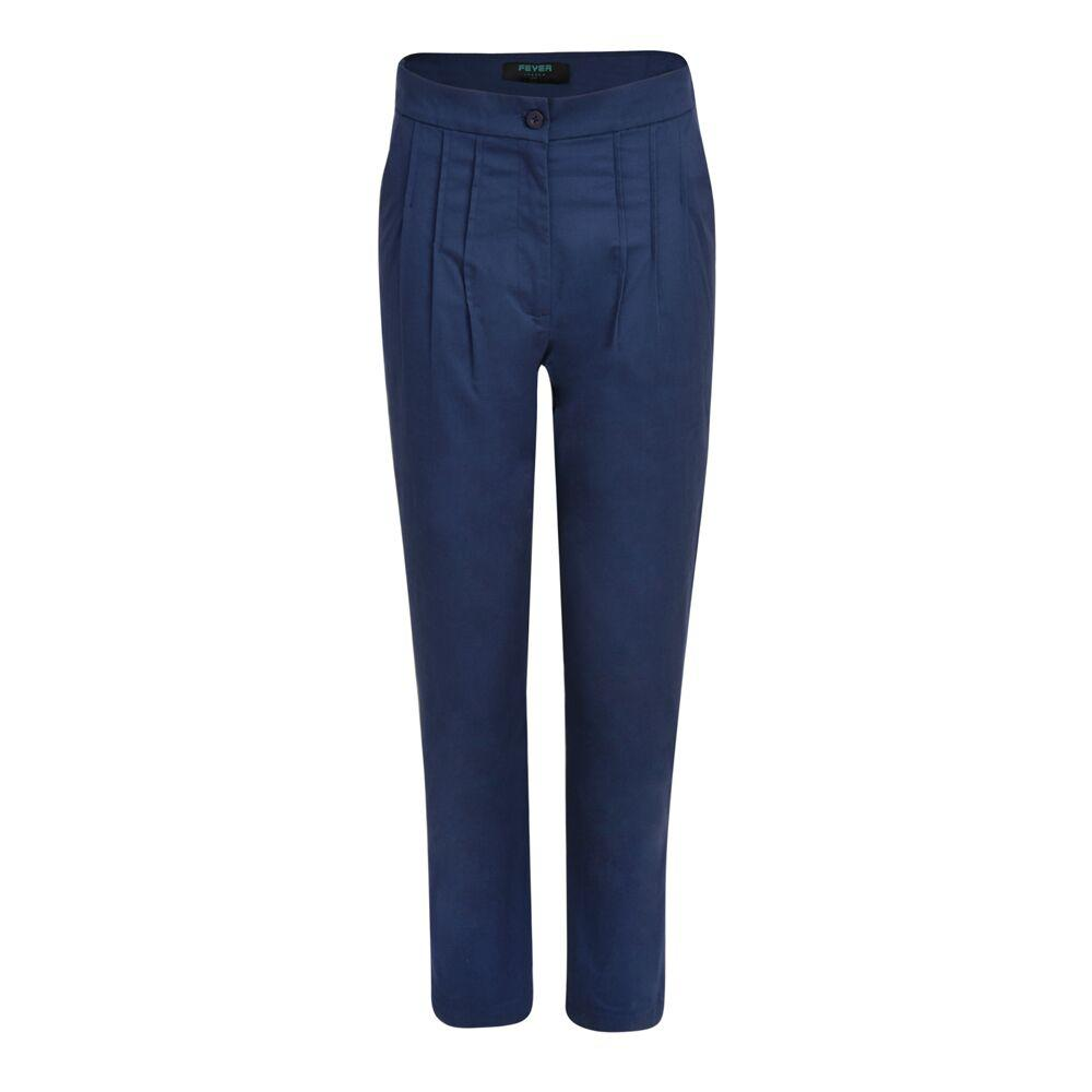Penny Cropped Trousers Navy - BouChic