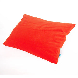 Neon Orange Velvet Cushion Small - BouChic