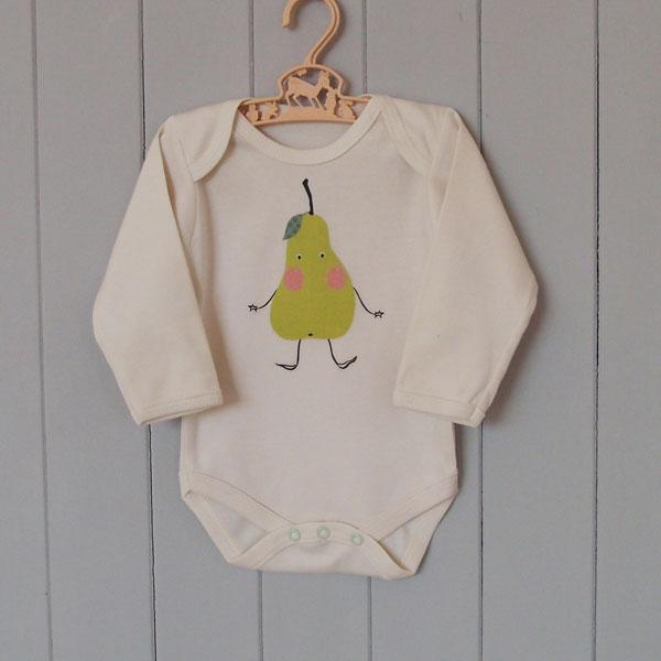 Organic Cotton Baby Grow - Pear - BouChic