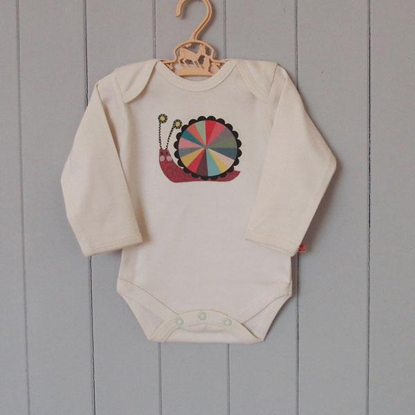 Organic Cotton Baby Grow - Snail - BouChic