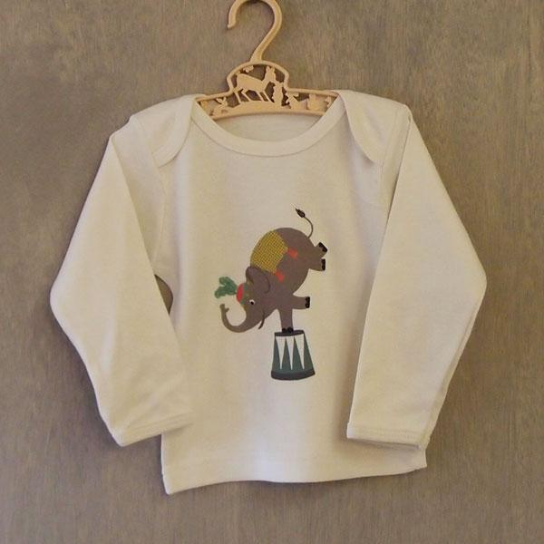 Organic Cotton Baby T-Shirt - Ellie Elephant - BouChic