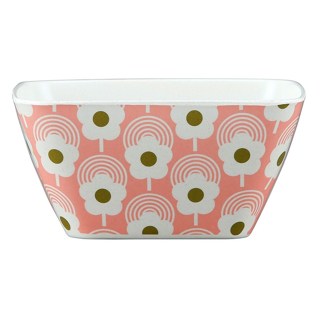 Orla Kiely Bamboo Bowl Lollipop Flower Bubblegum - BouChic