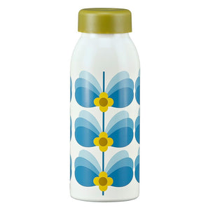 Orla Kiely Butterfly Stem Sky Stainless Steel Bottle - BouChic