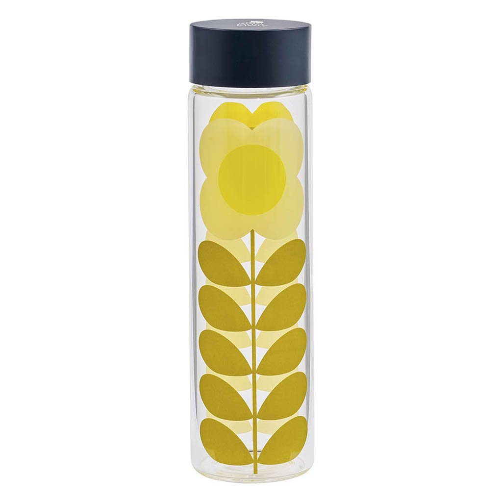 Orla Kiely Daisy Stem Glass Water Bottle - BouChic