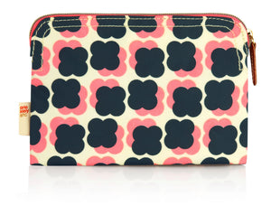 Orla Kiely Floating Flowers Make up Bag Navy/ Pink - BouChic