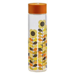 Orla Kiely Glass Water Bottle Multi Stem Daisy 525ml - BouChic