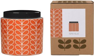 Orla Kiely Large Storage Jar Linear Stem Persimmon - BouChic