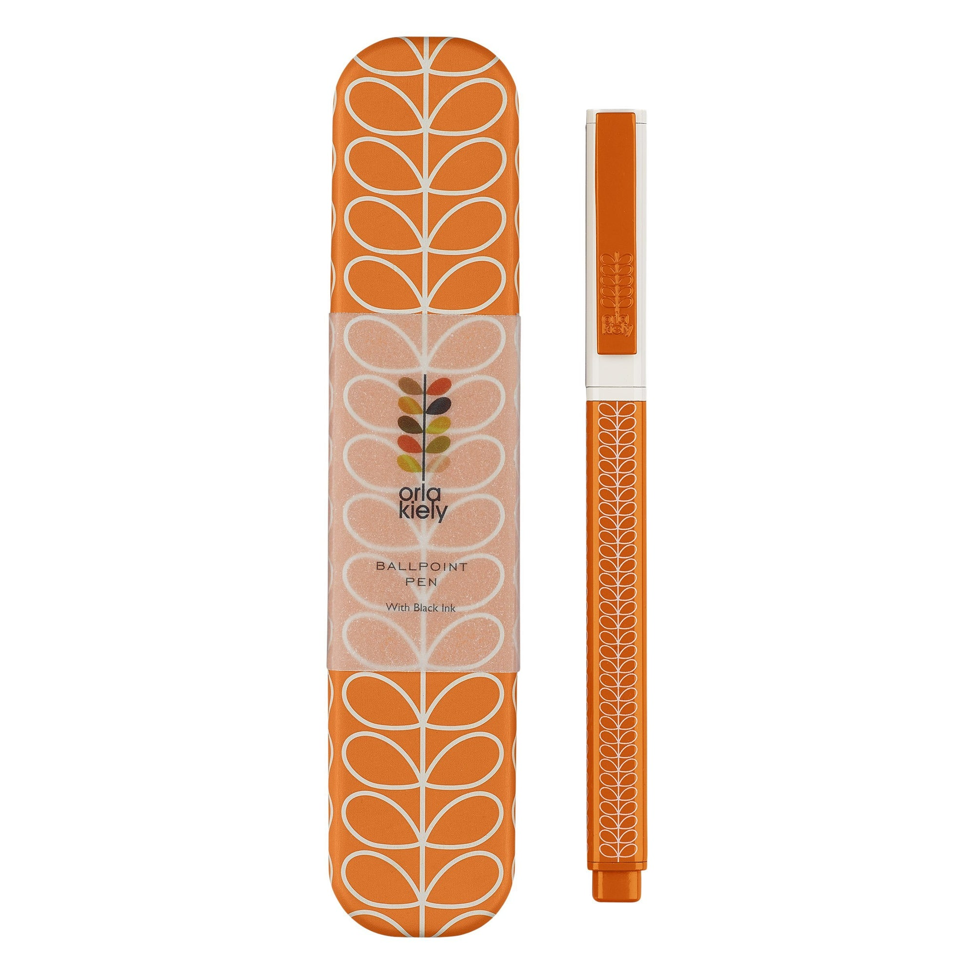 Orla kiely Linear Stem Ballpoint Pen in Orange - BouChic