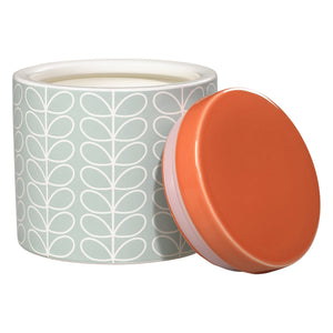 Orla Kiely Linear Stem Storage Jar - Duck Egg Blue & Persimmon Orange - BouChic