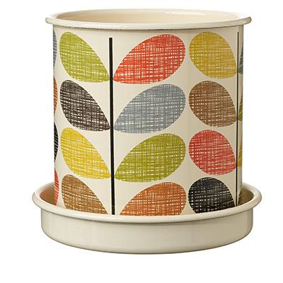 Orla Kiely Multi Stem Enamel Pot and Tray Large - BouChic